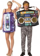 Mix Tape and Boom Box Adult Couples Costume_thumb.jpg