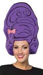 Beehive Purple Foam Wig Hat Adult Costume Accessory_thumb.jpg