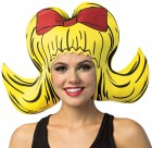 Bouffant Yellow Foam Wig Hat Adult Costume Accessory_thumb.jpg