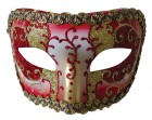 Medieval Opera Masquerade Eye Mask Mardi Gras Red Gold_thumb.jpg
