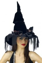 Deluxe Witch Hat Winding Rose Adult Women's Costume Accessory_thumb.jpg