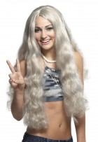 1960s Style Hippie Wig Costume Accessory Gray_thumb.jpg