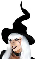 Black Velvet Wired Witch Hat Costume Accessory_thumb.jpg