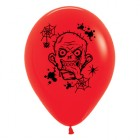Zombie Horror Red 30cm Latex Balloons Pack of 6_thumb.jpg