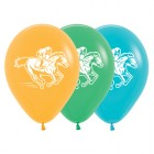 Melbourne Cup Horse Racing Mango Green Blue 30cm Latex Balloons Pack of 25_thumb.jpg