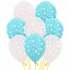 Snowflakes Clear & Blue 30cm Latex Balloons Pack of 12_thumb.jpg