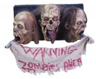 The Walking Dead 3 Faced Zombie Wall Plaque Halloween Decor_thumb.jpg