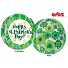 Shape Orbz Happy St. Patrick's Day 38cm x 40cm Foil Balloon_thumb.jpg