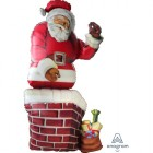 Shape Santa in the Chimney With Presents Foil Balloon_thumb.jpg