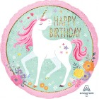 Magical Unicorn Happy Birthday 2 Sided Holographic 45cm Foil Balloon_thumb.jpg