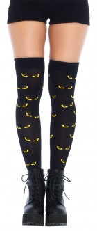 Spooky Eyes Printed Opaque Thigh Highs Adult Costume Accessory_thumb.jpg