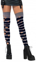 Distressed Opaque Striped Thigh Highs Adult Costume Accessory_thumb.jpg