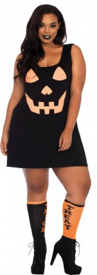 Jersey Pumpkin Dress Adult Plus Costume_thumb.jpg