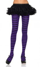 Tights Striped Adult Witch Costume Stockings Black & Purple_thumb.jpg