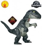 Jurassic World Blue Velociraptor Inflatable Adult Costume With Sound