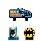 Batman Happy Birthday Mini Moulded Candle Pack of 4