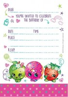 Shopkins Invitations & Envelopes