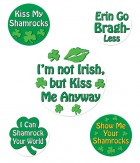 St Patrick's Funny Party Buttons