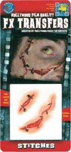 3D FX Small Stitches Tattoos Halloween Zombie Prop Costume