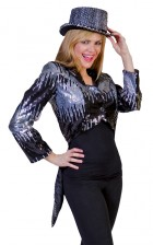 Glitter Tailcoat Silver Adult Jacket