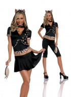 Feisty Feline Cat Adult Women's Costume