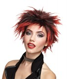 Punk Rock Chick Spiked Wig Red