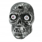 Scary Silver Skull Halloween Prop With Lights And Sound