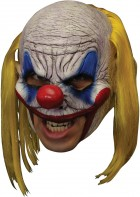 Clooney Clown Deluxe Chinless Adult Latex Mask