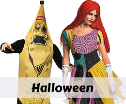Halloween costumes and accessories.